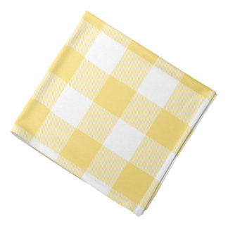 Pastel Yellow Buffalo Check Bandana