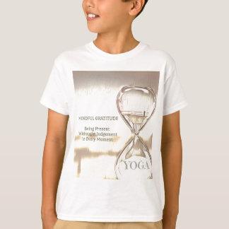 Pastel Yellow Calming Yoga Hourglass Gratitude T-Shirt