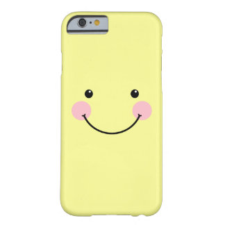 Pastel Yellow Cute Smiling Face iPhone 6 case
