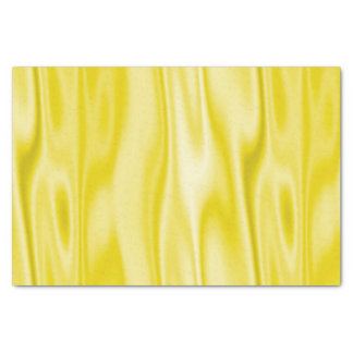 Pastel Yellow Faux Satin Fabric in Folds Tissue Paper