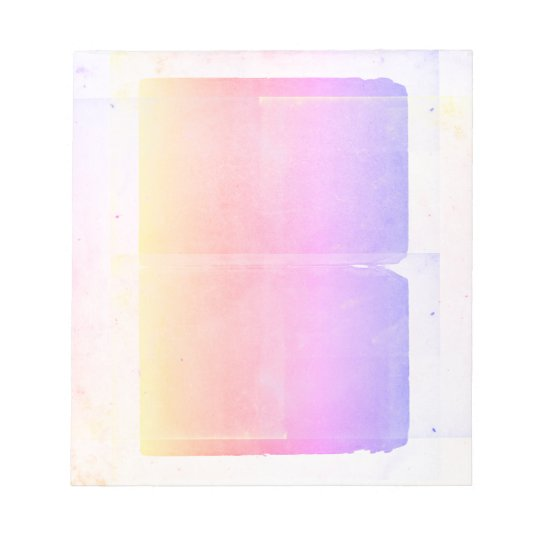 Pastel Yellow Pink Purple Watercolor Ombre Sheets Notepad