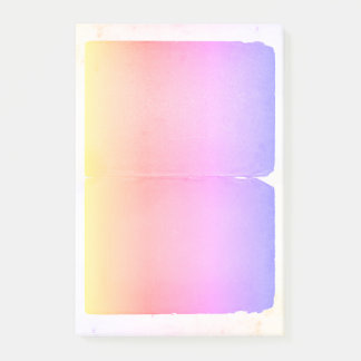 Pastel Yellow Pink Purple Watercolor Ombre Sheets Post-it Notes
