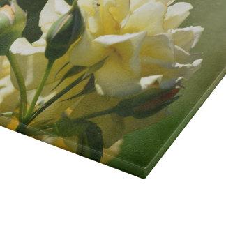 Pastel Yellow Rose Bush Cutting Board