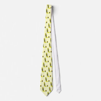 Pastel Yellow Stiletto and French Macaroons Art Tie
