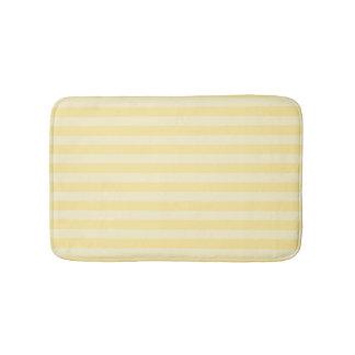 Pastel Yellow Striped Bath Mats
