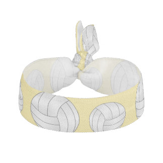 Pastel Yellow volleyball pattern Hair Ties