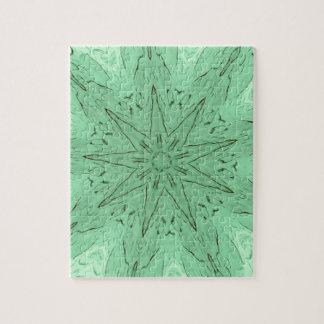 PastelGreen Spiked Mandala Jigsaw Puzzle
