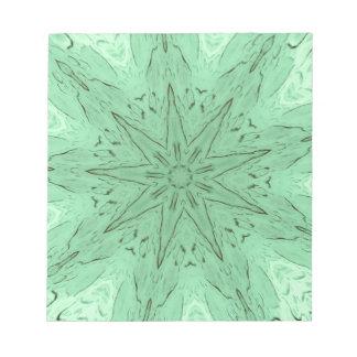 PastelGreen Spiked Mandala Notepads