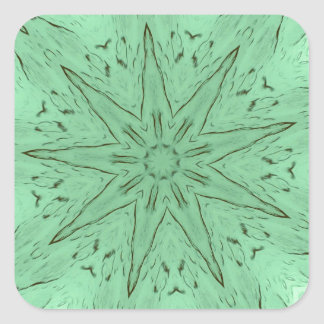 PastelGreen Spiked Mandala Square Sticker