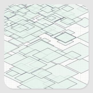Pastell Diamond graph PAPER SIRAdesign Square Sticker