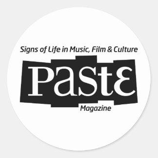 Pastelogobwclr_magandtag (B&W) Classic Round Sticker