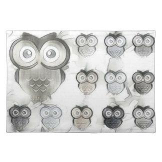 PastelPa Owls Placemat