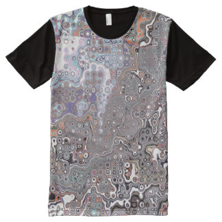 Pastels Abstract Chaos All-Over-Print T-Shirt