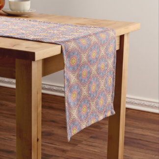 Pastels Colorful  Kaleidoscope Table Runner