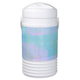 Pastels Geometric LInes Igloo Beverage Cooler