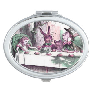 Pastels Mad Tea Party Compact Makeup Mirror