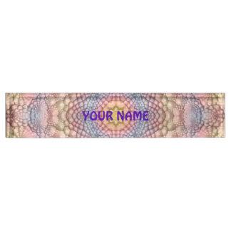Pastels Vintage Kaleidoscope  Desk Nameplate