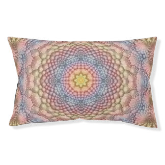 Pastels Vintage Kaleidoscope Dog Bed