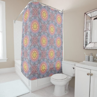 Pastels Vintage Kaleidoscope   Shower Curtain