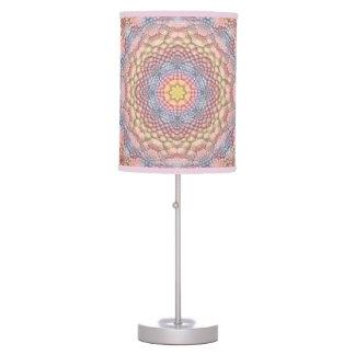 Pastels Vintage Kaleidoscope  Table Lamp
