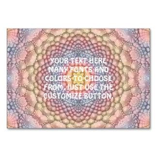 Pastels Vintage Kaleidoscope Tablecards Card