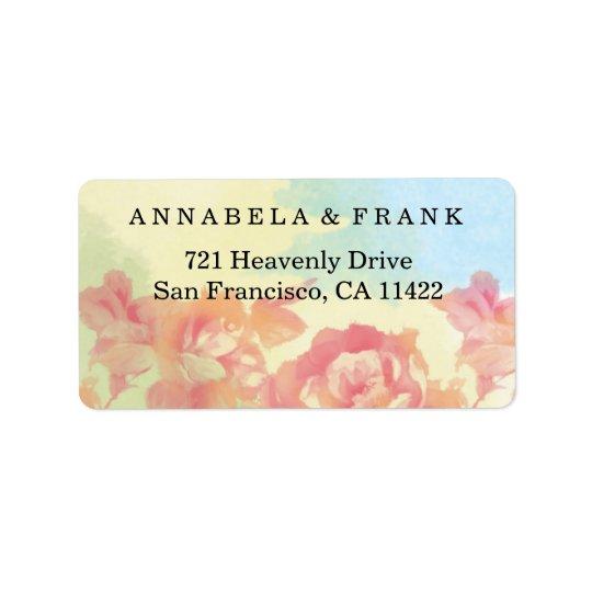 Pastels Watercolor Bouquet Return Label Stickers