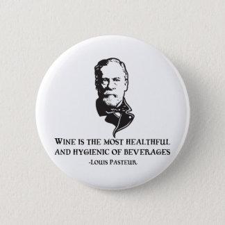 Pasteur - Wine 2 Inch Round Button