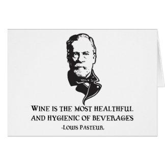 Pasteur - Wine Greeting Card