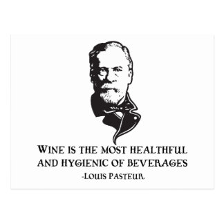 Pasteur - Wine Postcard