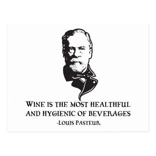 Pasteur - Wine Post Cards