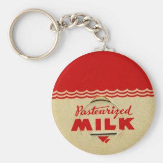 Pasteurized Milk Cap Keychain