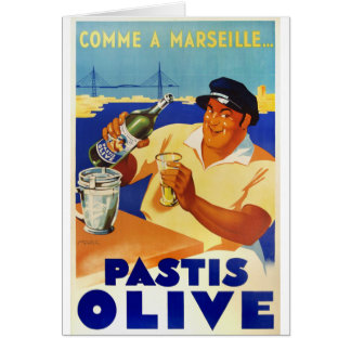 Pastis Olive - Comme a Marseille Card