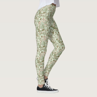 Pastle East Indian Graphic Flowering Vines Leggings
