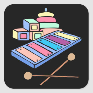 pastle xylophone square sticker