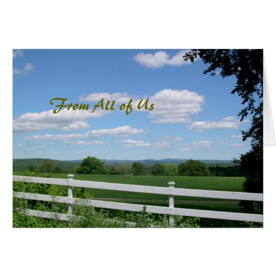 Pastor Appreciation Card, Field and Fence Card