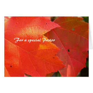 Pastor Appreciation Foliage Card