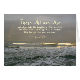 Pastor Appreciation Ocean Scene Scripture Card