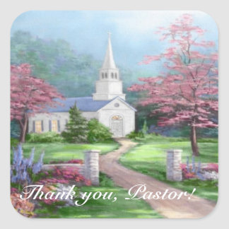 Pastor Appreciation Square Sticker