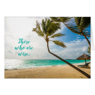 Pastor Appreciation Tropical Beach Scripture Card