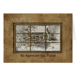 Pastor Appreciation - Window View -Covered Bridge Card