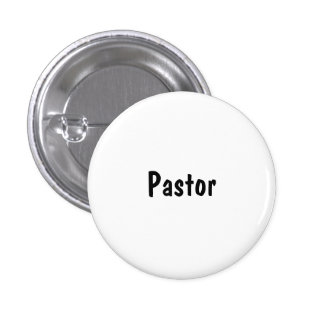 Pastor Pinback Buttons