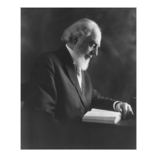 Pastor Charles Taze Russell Reading Bible Print