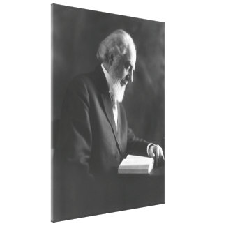 Pastor Charles Taze Russell Reading Bible Stretched Canvas Print