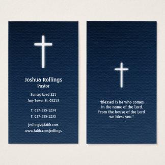 Pastor | Christian Cross Business Card