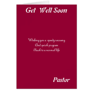 Pastor get well soon cards