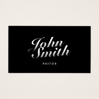 Pastor Stylish Calligraphic Business Card