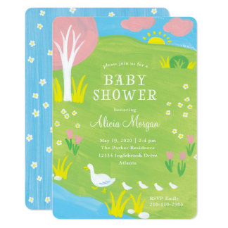 Pastoral Baby Shower Invitation