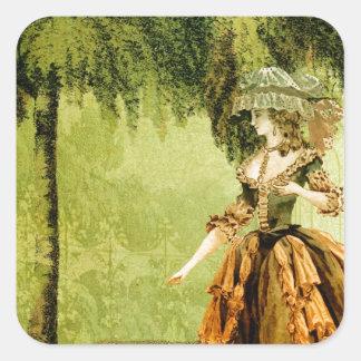 Pastoral Lady Square Sticker