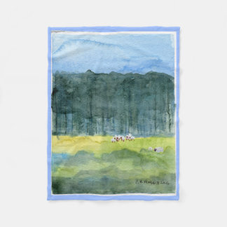 Pastoral Landscape Fleece Throw