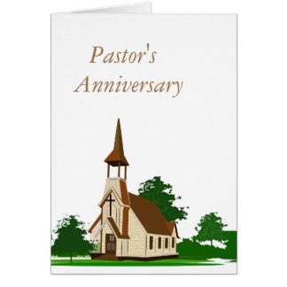 Pastor's Anniversary Greeting Card